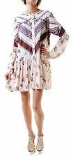 Free People Women's Authentic Long sleeves Dress Pink Size S RRP £70 BCF66