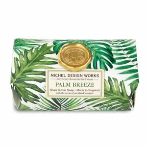 Michel Design Works Large 8.7 oz Artisanal Bar Bath Soap Palm Breeze - NEW