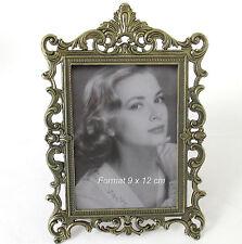Bilderrahmen Fotorahmen Barock Format 9 x 12 cm  Rahmen 12 x 18 Metall Antik