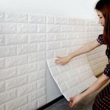 30*60 cm PE Foam 3D Wall Stickers Home Decoration Wallpaper Brick Embossed Stick