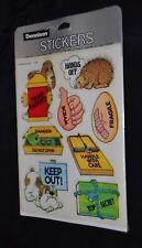 Vtg 70's DENNISON Stickers FUNNY QUOTES SCRAM HANDS OFF PORCUPINE DANGER NIP