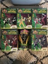 Mighty Morphin Power Rangers Karate Action Complete Set Plus Extra Black Ranger