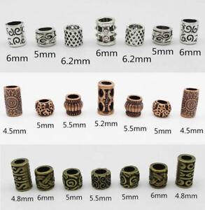 Viking Beard Beads Dreadlock Hair Ring 7pcs - UK Seller