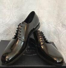 Prada Men's Shoe Black Patent Leather Lace Dress Shoe Size 9 1/2 UK /US 10 1/2
