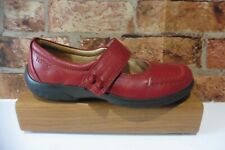 HOTTER STARSHINE RED LEATHER HOOK & LOOP COMFORT SHOES SIZE 5 STANDARD FIT