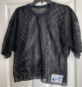Vintage Champion Mesh Football Jersey Shirt Made In USA  M Black