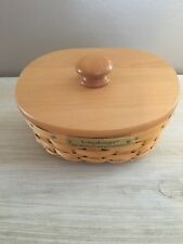Longaberger 2002 Hostess Appreciation Basket W Lid & Protector