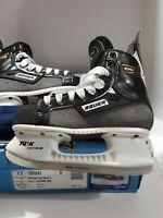 New! BAUER SUPREME 3000 TUUK Patin Jr. SZ 6D BLACK WHITE ICE HOCKEY SKATES