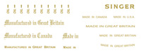 Miscellaneous Household Singer Sewing Machine Restoration Decals 41073