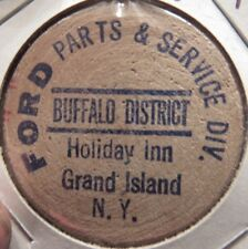 Vintage Ford Parts and Service Grand Island, NY Wooden Nickel - Token New York