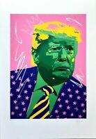 Grafica d'autore numerata e firmata a mano - Donald Trump - di Stefano Fiore