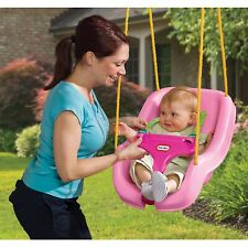 Little Tikes 2-in-1 Snug 'n Secure Swing Pink Baby Safety Comfort