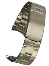 Edelstahluhrband mit Rundanstoss 20 mm Uhrbänder Uhrarmband Stahlband Ersatzband