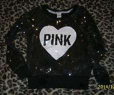 *BNWOT* SparKLy VicToria's SecreT PINK Sequin-CoaTed SweaTshirT RARE *S*