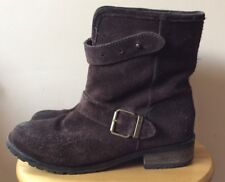 Diesel Brown Suede Leather Eagle Biker Ankle Boots UK 5 / 38 RRP £195
