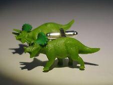 Triceratops Manschettenknöpfe -- Reptil Natur Tier Dinosaurier Urzeit Fossil