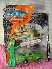 VOLKSWAGEN TRANSPORTER☆green VW bus; tools in bed☆2017 MATCHBOX COLOR CHANGERS