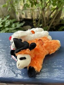 Multipet 6'' - Set Of Two Halloween Lamb Chop - Squeaky Dog Toy
