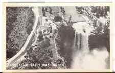 Undated Unused Postcard Real Photo Snoqualmie Falls Washington Wa