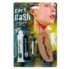 Gory hueco entre dientes Fancy Dress Make Up Set Slash Kit de látex herida & Sangre Nuevo W