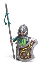 Playmobil Figure Castle Green Dragon Knight Helmet Sword Shield Spear 4840 5911