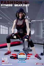 "1/6 Female Fitness Gym Wear Set For 12"" PHICEN Hot Toys Female Figure Doll"