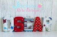 Nursery Padded Letters Wall Art Handmade Fabric name, personalised, girl, boy