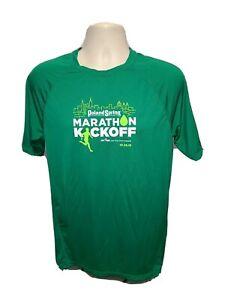 2018 NYRR Poland Spring Marathon Kickoff Mens Medium Green Jersey