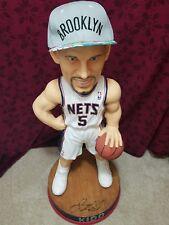 "Jason Kidd Autographed New Jersey Nets 36"" Bobblehead plus Brooklyn Hat"