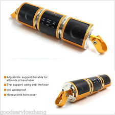 Golden Motorcycle Bluetooth Wireless Audio Scooter Bike Stereo Sound System