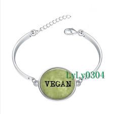 VEGAN - Vegetarian glass cabochon Tibet silver bangle bracelets wholesale