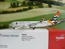 Herpa Wings 1:500 534024 Cayman Airways B737 Max8 VP-CIW Herpa Wings Club *RARE*