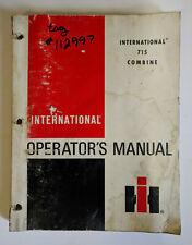 International 715 Combine Operator's Manual