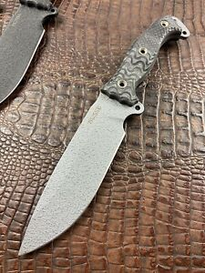 Busse Combat NFNO INFI w/ Hammered Silver Unused Survival Knife