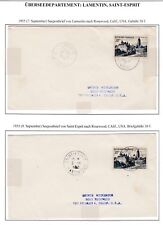 Martinique 1955 2x 30F Covers Lamentin & Saint Esprit To Rosewood California Usa