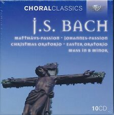 Choral Classics JS Bach 10-disc CD box set NEW Easter Oratorio Matthaus Johannes