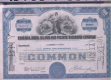 CHICAGO ROCK ISLAND AND PACIFIC RAILROAD COMPANY 100 shares1955