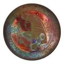 BURMANTOFTS faïence lustrée égyptien plaque Joseph Walmsley