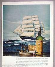 Cutty Sark Scotch Whiskey PRINT AD - 1965