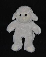 Peluche doudou mouton blanc BURBERRY truffe vert pale yeux brodés 17 cm TTBE