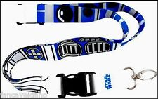 Star Wars R2-D2 R2D2 Lanyard with Breakaway Clip Keychain - FREE Shipping!