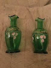 Set of two hand painted jugs very unusual