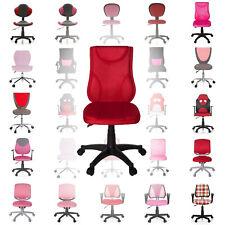 Kinderdrehstuhl Kinderschreibtischstuhl Drehstuhl für Kinder Schulstuhl rot rosa