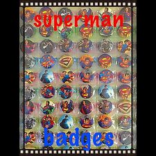 Superman Party Bag Fillers. Set Of 10 Birthday Party Badges. Superhero Fillers
