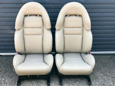 BEIGE PAIR HSV COULSON STYLE SEATS GENUINE LEATHER HOLDEN COMMODORE VZ VY VX VT