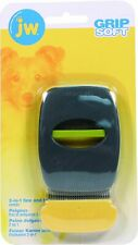 New listing Jw Grip Soft 2-In-1 Fine And Flea Combs Medium Gray/Yellow