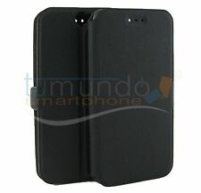 FUNDA SOPORTE de PIEL NEGRA para HTC ONE A9 en ESPAÑA case flip libro
