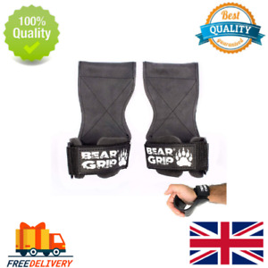 BEAR GRIP Multi Grip Straps/Hooks, Premium Heavy duty weight lifting straps/glov
