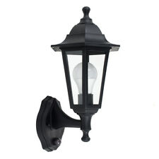 Traditional Style Black Outdoor Coach Wall Lantern PIR Sensor IP44 Garden Lamp