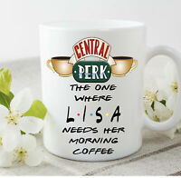 Friends Tv Show Personalised Central Perk Name Morning Coffee Mug